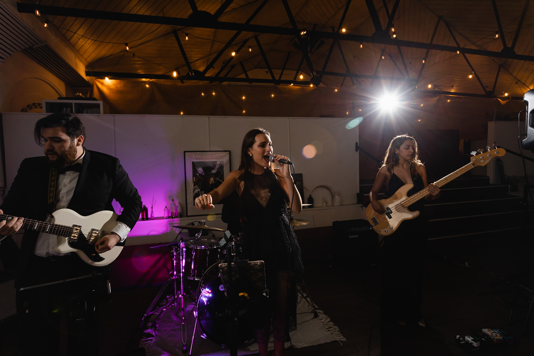 Eclipse Band from Perth playing at wedding reception at Maker and Co in Bunbury
